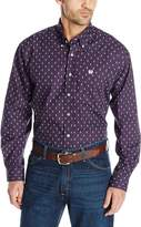 Cinch Men's Classic Fit Long Sleeve Button Down Tower Print Shirt