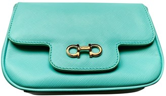 Salvatore Ferragamo Turquoise Leather Clutch bags