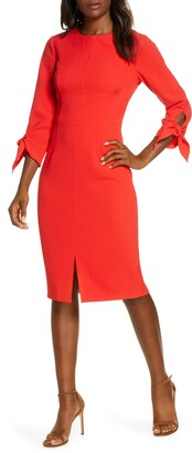 Harper Rose Tie Sleeve Sheath Dress