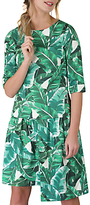 Closet Three-Quarter Length Sleeve Asymmetric Dress, Green