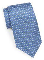 Saks Fifth Avenue Sailboat Silk Tie