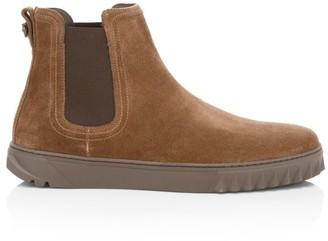 Salvatore Ferragamo Talos Suede Chelsea Sneakers