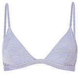 Onia Dani Seersucker Stripe Triangle Bikini Top
