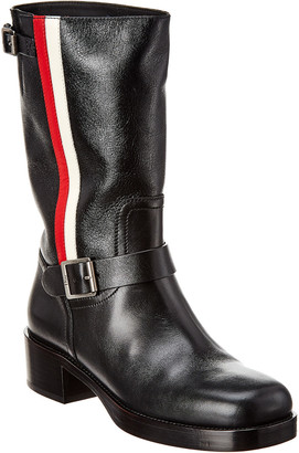 Christian Dior Side Stripe Leather Boot