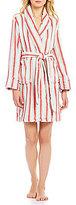 Sleep Sense Striped Plush Robe