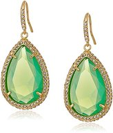 ABS by Allen Schwartz Teardrop Stone with Pave Gold Pacific Opal Drop Earrings