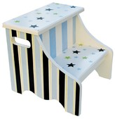 The Well Appointed House Renditions by Reesa Blue and Green Stars Step Stool