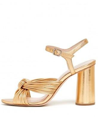 Loeffler Randall Cece High Heel Knot Ankle Strap Sandal in Gold