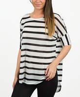 Black Stripe Timeless Dolman Tunic