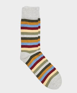 Corgi Multistripe Sock Silver in Silver
