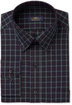 Club Room Men's Estate Classic/Regular Fit Green Mackenzie Tartan Dress Shirt, Only at Macy's