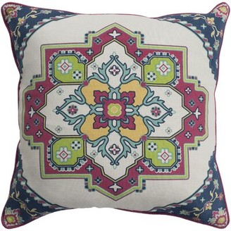 """Brierwood Cotton Geometric Pillow Cover Charlton Home Size: 18"""" H x 18"""" W, Color: Bright Red"""