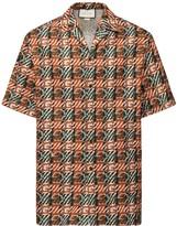 Gucci Gg Print Cotton Canvas Bowling Shirt