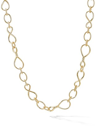 David Yurman 18kt yellow gold medium scale Continuance chain necklace