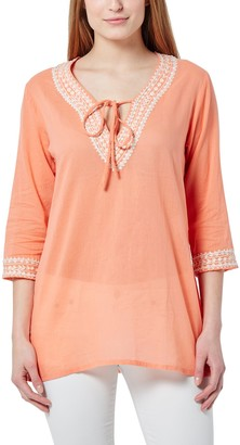 Berydale Women's Tunic With Embroidery and Pearls