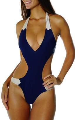 Cattiva Girl Doyenne Color-Block Trikini