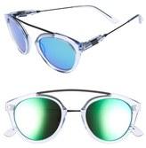 Westward Leaning Women's 'Flower' 51Mm Sunglasses - Blue Ice Shiny/ Emerald