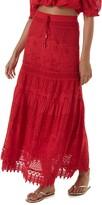 Melissa Odabash Alessia Eyelet Cover-Up Maxi Skirt