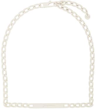 Jacquemus White Le Collier Carre Necklace