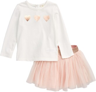 Tucker + Tate Glitter Heart T-Shirt & Tulle Skirt Set