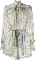 Zimmermann Super Eight silk playsuit
