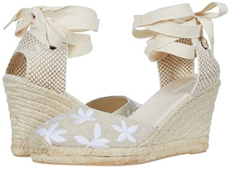 Soludos Floral Classic Wedge (Sand) Women's Wedge Shoes