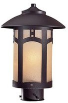 Minka Lavery The Great Outdoors Beacon Roads Bronze 1 Light Post Mount
