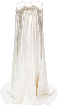 Oscar de la Renta Rhinestone Embroidery Flared Gown