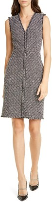 Tailored by Rebecca Taylor Sleeveless Static Tweed Dress