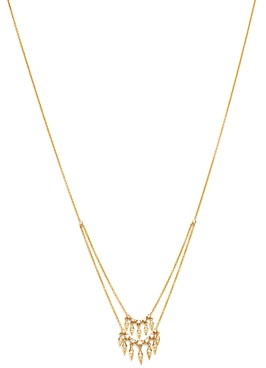Madhuri Parson 14K Yellow Gold Diamond Essentials Peacock Feather Two-Tiered Necklace, 18.5