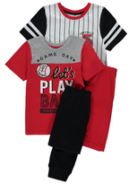 George 2 Pack Baseball Pyjamas