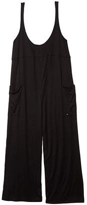 Hurley Sandy Rib Jumpsuit (Black 1) Women's Jumpsuit & Rompers One Piece