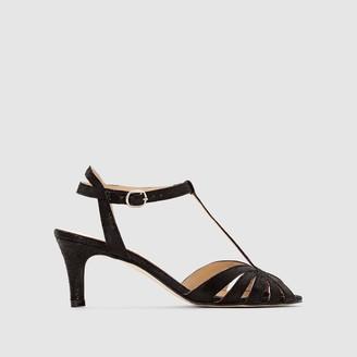 Jonak High-Heeled Soft Suede Sandals