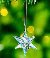 Swarovski Aurora Borealis Crystal Star Ornament