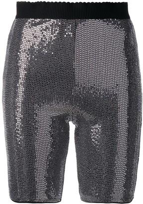 For Love & Lemons Bastille metallic shorts
