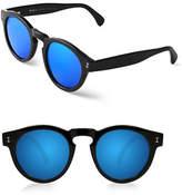 Illesteva Leonard 47mm Matte Oxford Sunglasses