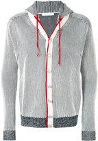 Pierre Balmain striped hooded jacket - men - Cotton - 52
