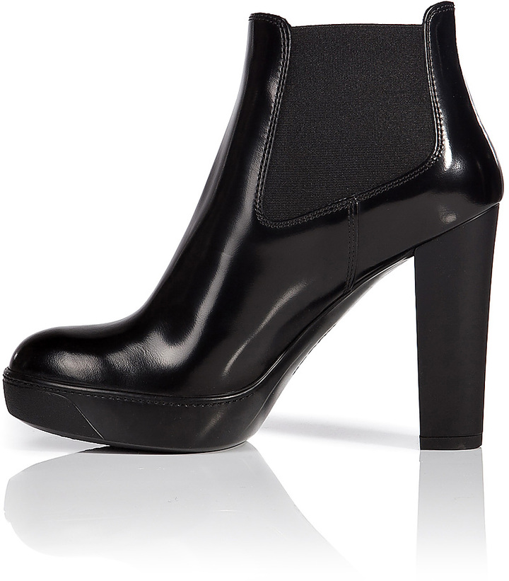 Hogan Patent Leather Ankle Booties