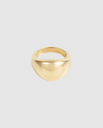 Wanderlust + Co Dome Gold Sterling Silver Ring