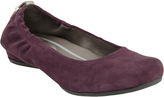 Earthies Burgundy Suede Tolo Flat