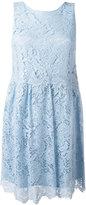 P.A.R.O.S.H. floral lace skater dress