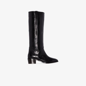 Isabel Marant black Mewis leather riding boots