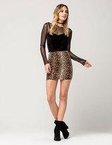 Full Tilt Leopard Bodycon Skirt