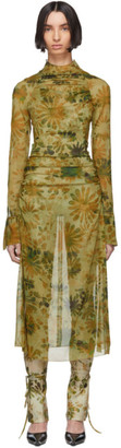 Charlotte Knowles Green Floral Serpent Dress