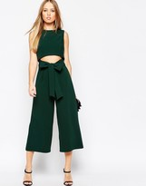 Asos Culotte Jumpsuit with Cut Out Front