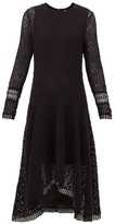 See by Chloe Handkerchief-hem Crochet Dress - Womens - Black
