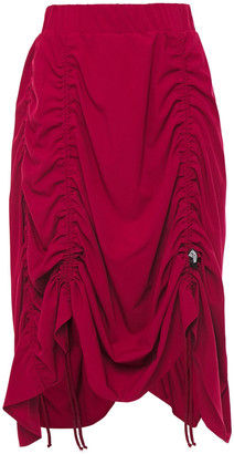 Love Moschino Ruched Stretch-twill Skirt