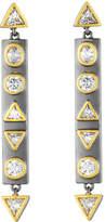 Freida Rothman Geometric Crystal Bar Earrings