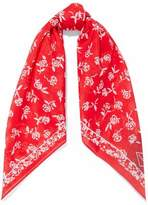 Rag & Bone Floral-Print Cotton And Silk-Blend Scarf