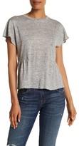 Rebecca Taylor Short Sleeve Peplum Linen Shirt